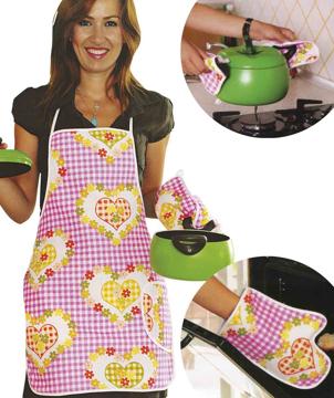 Resim Alas Kumaş Mutfak Önlük Set