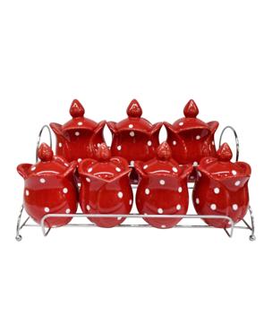 Resim Lale Baharat Takımı 7Li Puantiyeli Kırmızı
