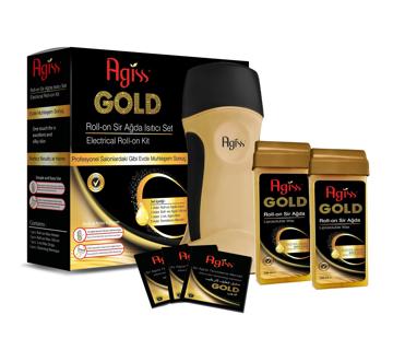 Resim Agiss Sir Ağda Roll-On Isıtıcı Set Gold