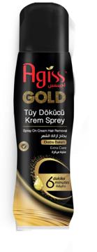 Resim Agiss Tüy Dökücü Krem Sprey Gold Ext 175Ml