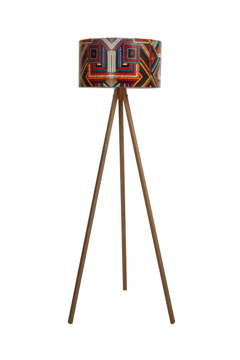 Resim Pvc Başlıklı 3 Ayaklı Tripod Lambader-Geleneksel Renkler
