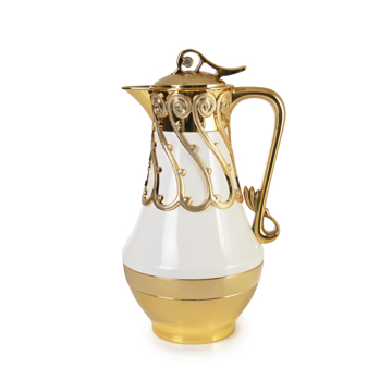 Resim Dekoratif Lüks Termos Beyaz-Gold